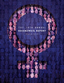 Cover of the the 14th Annual Rosenzweig Report on Women at the Top Levels of Corporate Canada