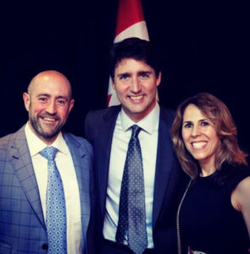 A photo of Jay Rosenzweig with Justn Trudeau