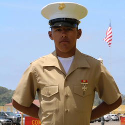 Upon joining the Marines