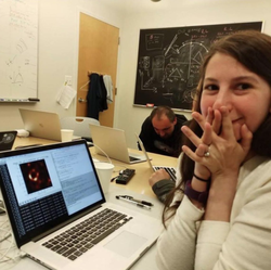 Katie Bouman with visualization of a Black hole​