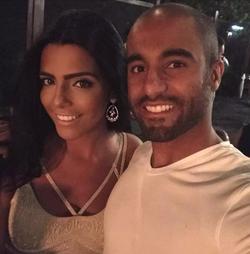 Larissa Saad pictured with Lucas Moura
