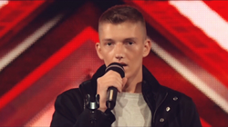 Zarins performing on The X Factor
