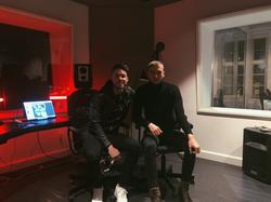 Zarins in the studio