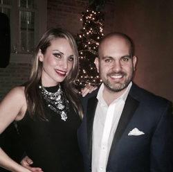 Mayra Farret pictured with her husband Fernando G. Peralta (2016)