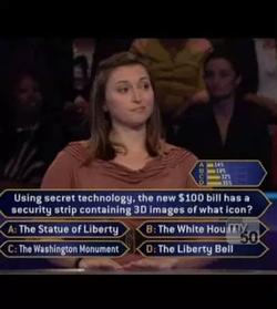 Melissa Sassin Holzhauer on Who Wants to Be a Millionaire?​ (2012)
