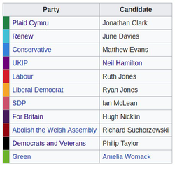 Candidates on the By-Election.
