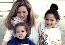 Patricio with his mother, Loretta Butler, and his sister, Meg Onli[4]