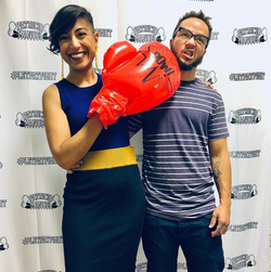Patricio Manuel and his girlfriend, Amita Swadhin, at a fundraiser for his boxing career  [10]