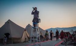 Peter Ruprecht taking photos atBurning Man[9]