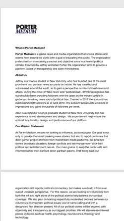 Info on Porter Medium