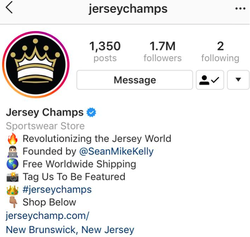 Jersey Champs Instagram page