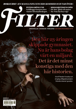 Theodor Forselius on the cover of Filter Magazine