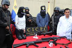 Photo of the guns confiscated