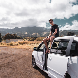 Van Meer on a road trip in Hawaii​