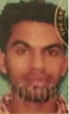 Pictured on his identification