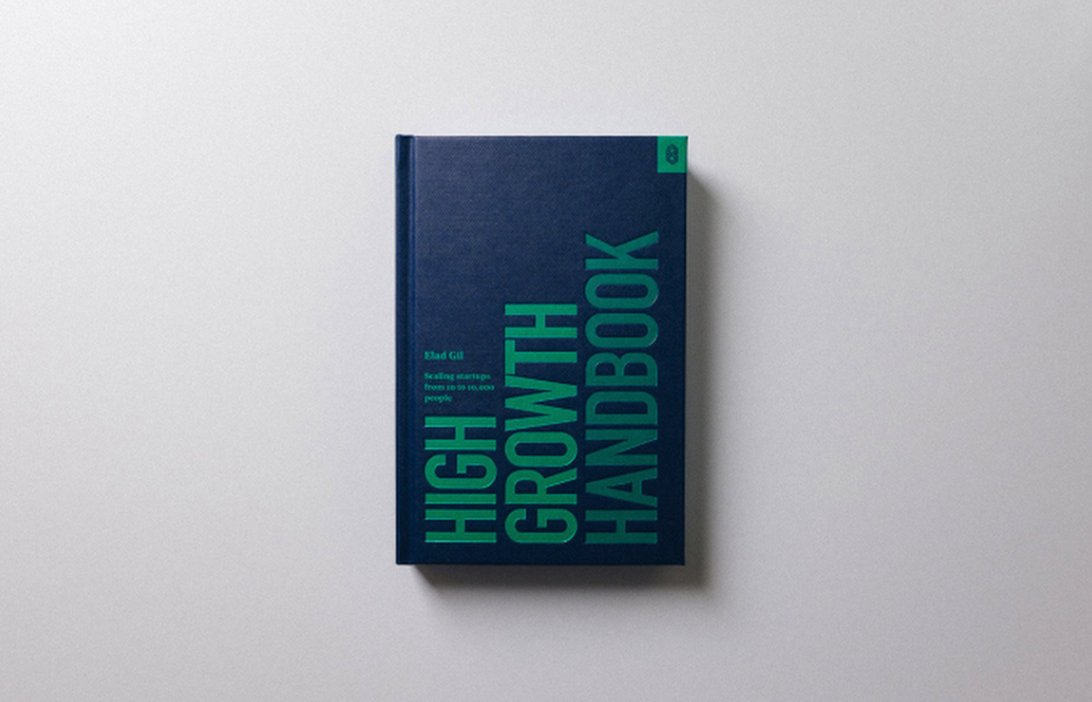 Photo of the book cover of *High Growth Handbook* as seen in its publisher's website, Stripe. Main Image