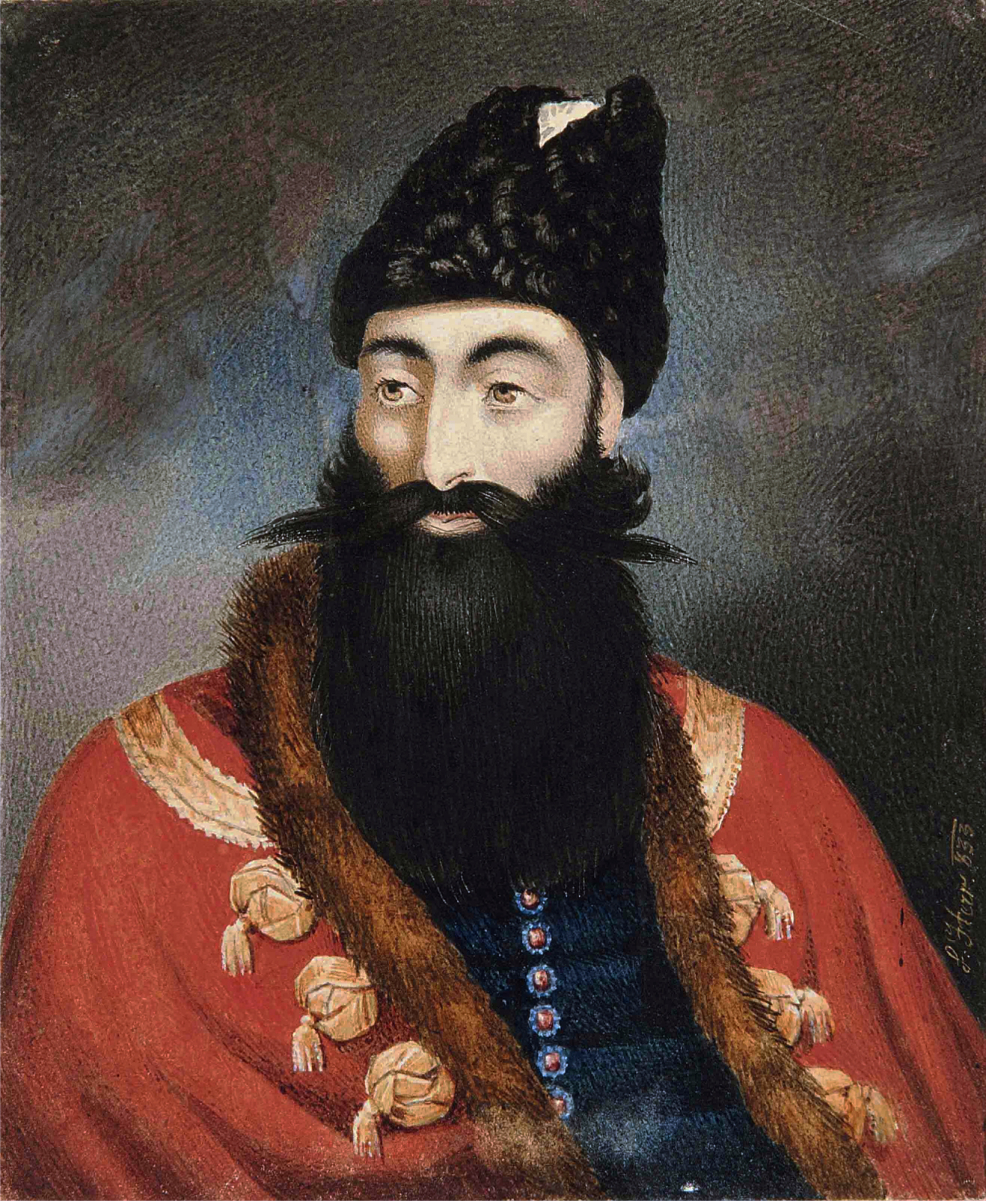 Prince Abbas Mirza, signed by L. Herr, dated 1833.