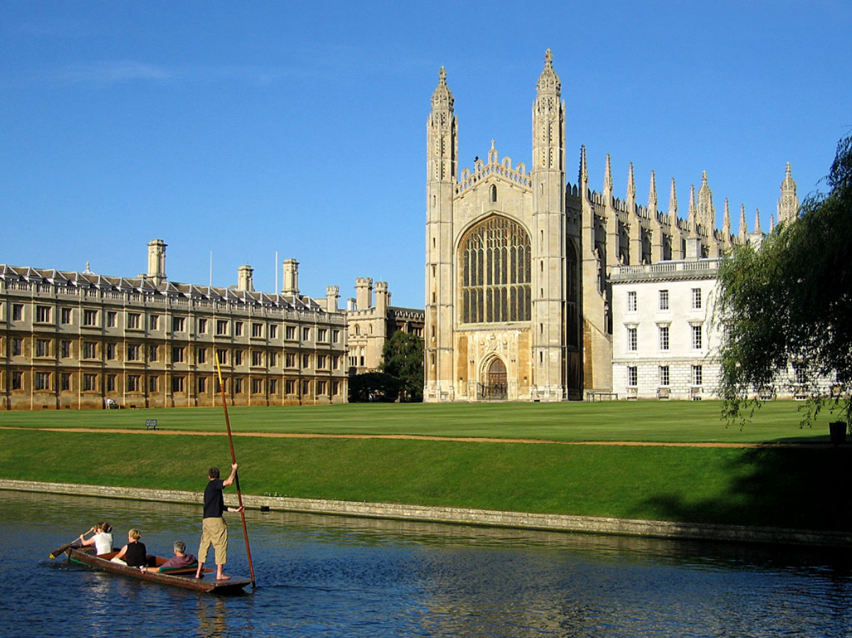 """King's College Chapel, seen from <a href=""""/content/The_Backs"""" style=""""color:blue"""">the Backs</a>"""