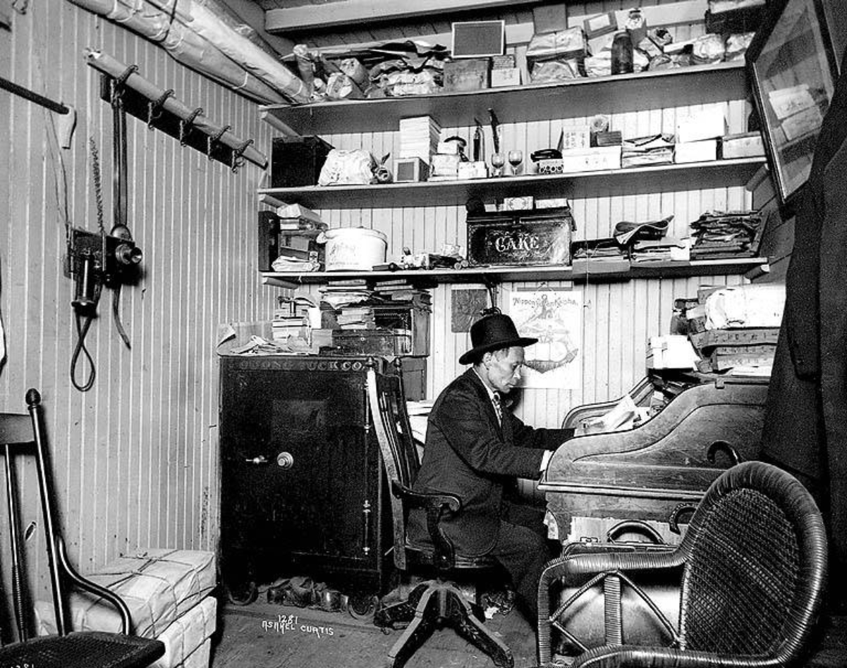 Chin Gee Hee in his office in Seattle circa 1904