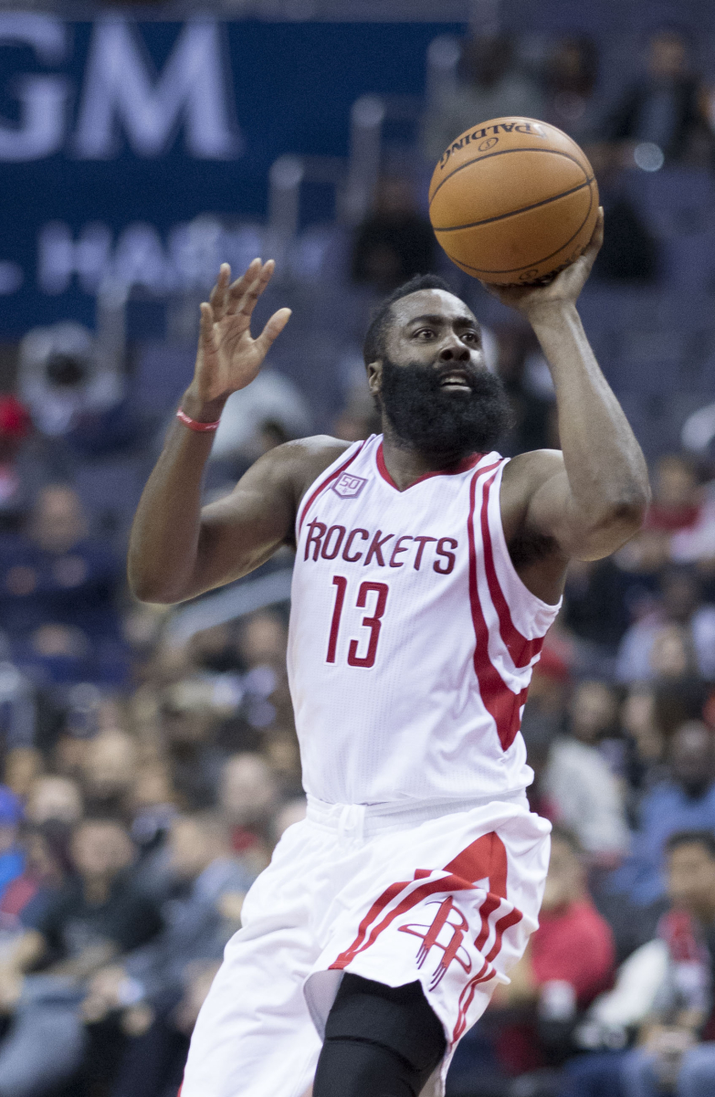 Harden with the Rockets in November 2016