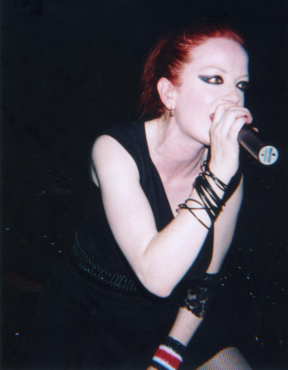 Manson performing live in 2005.
