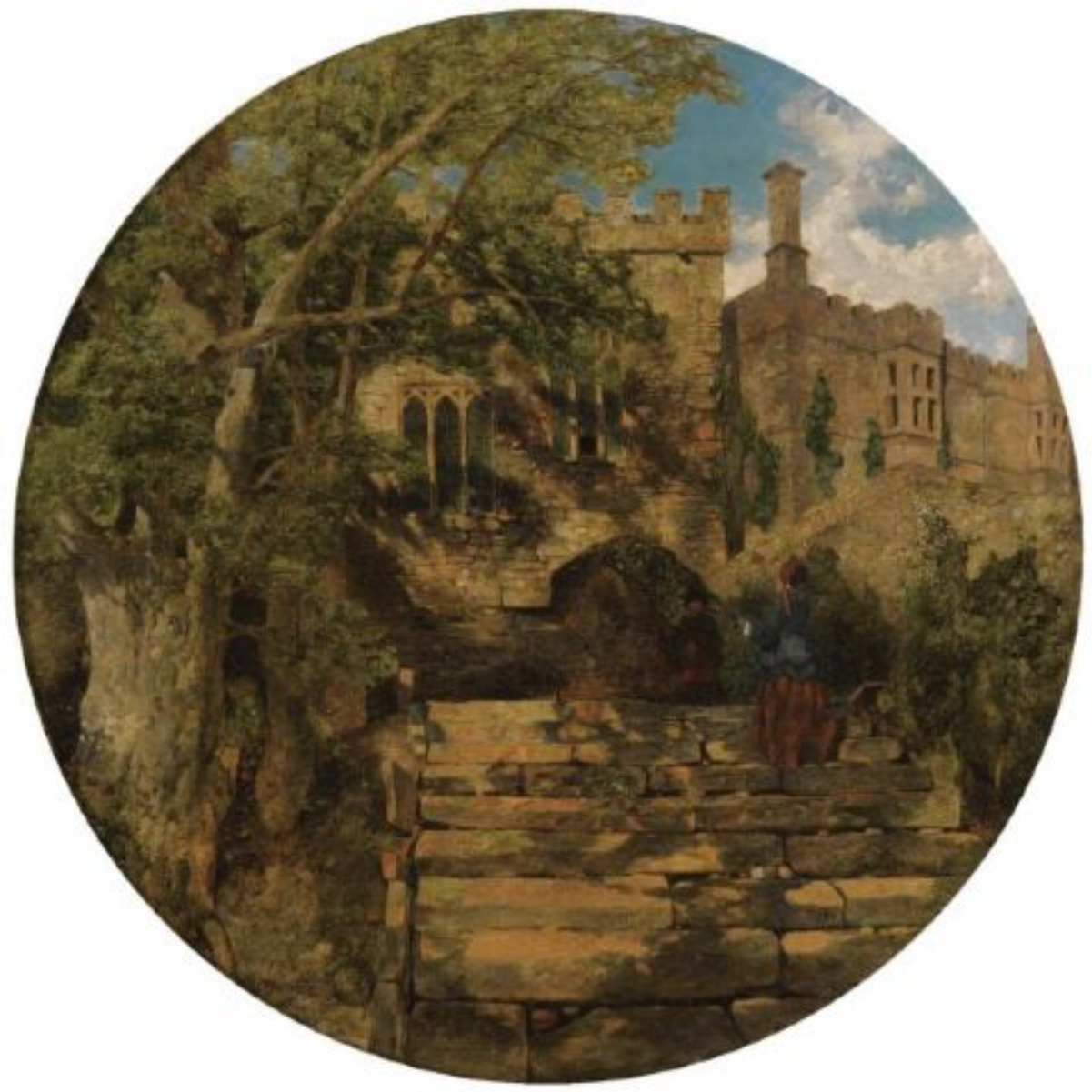 """""""The Chapel at Haddon Hall"""" 1853 <sup><a href=""""undefined"""" style=""""color:blue"""">[1]</a></sup>"""